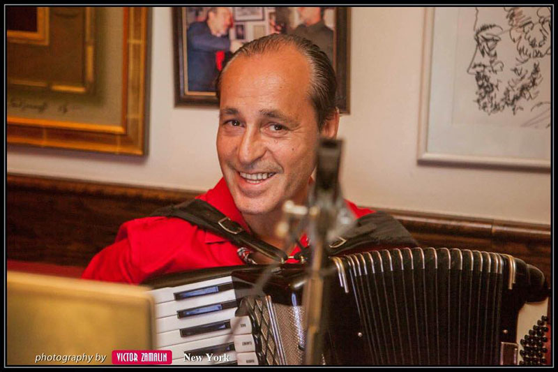 Accordion player from New York City Andrei