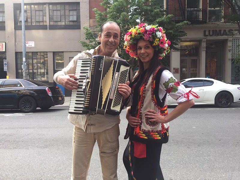 New York based accordion player Andrei