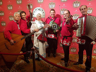 Plaza Hotel in New York City, NYC accordion virtuoso Andrei with Barynya Russian Band