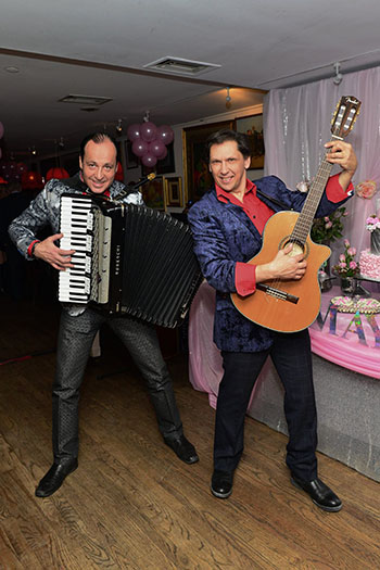 Accordion virtuoso Andrei with Sergey Pobedinskiy in New York City