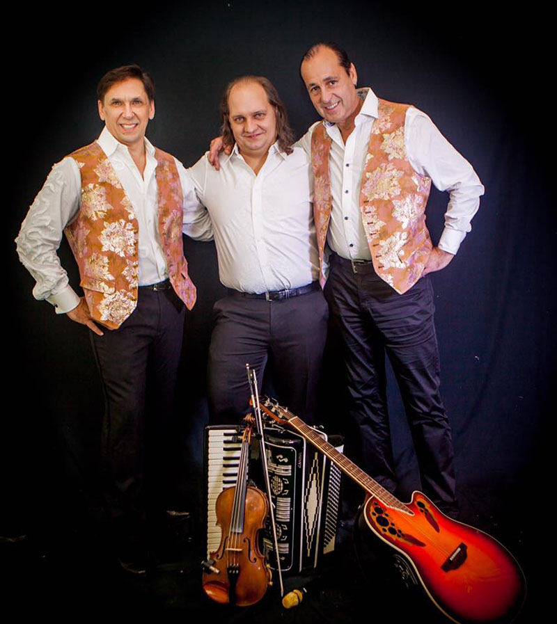 New York based accordion player Andrei with Gypsy Fun Trio Valery Zhmud, Sergei Pobedinskiy