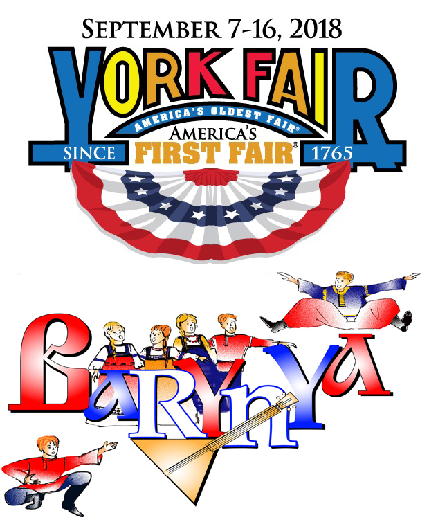 Russian dance and music ensemble Barynya in York, Pennsylvania, Wednesday, September 12, 2018, America's Oldest Fair Since 1765, Russian Culture Day at the America's First Fair