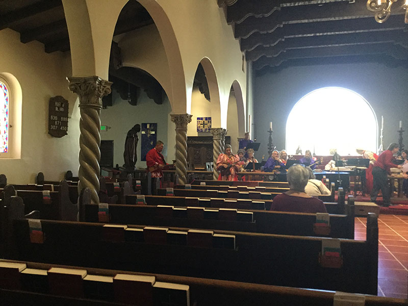 Mikhail Smirnov, Elina Karokhina, Arizona Balalaika Orchestra, Church Sanctuary, Historic St. Philip's In The Hills Episcopal Church