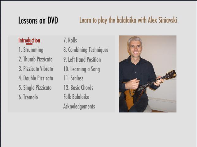 Balalaika Tutorial On Dvd