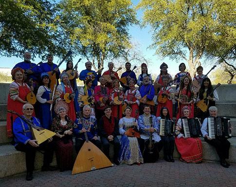 Barynya Balalaika Trio, Elina Karokhina, Mikhail Smirnov, Leonid Bruk, Arizona Balalaika Orchestra, Концерт в Pima Community College, город Tucson, штат Аризона, 28 января 2017 года