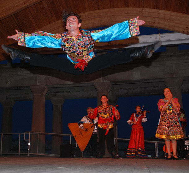 Ilia Pankratov, Russian dance and music ensemble Barynya performance in Atlantic City, NJ