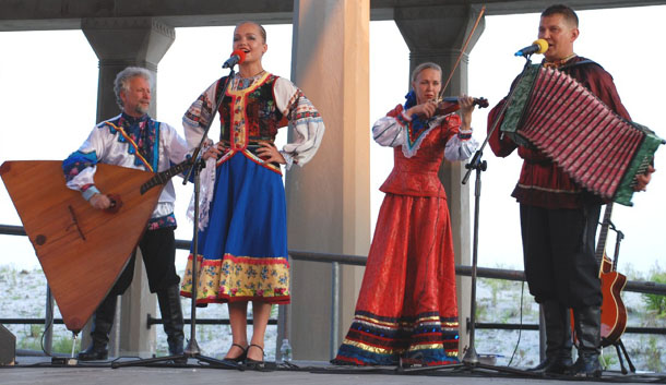 "Cossack folk song. Russian dance and music ensemble ""Barynya"" performance in Atlantic City, NJ"