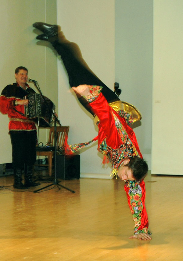 Alexey Maltsev, Barynya concert in Albany, New York, 2010, photo by Sonya Stark