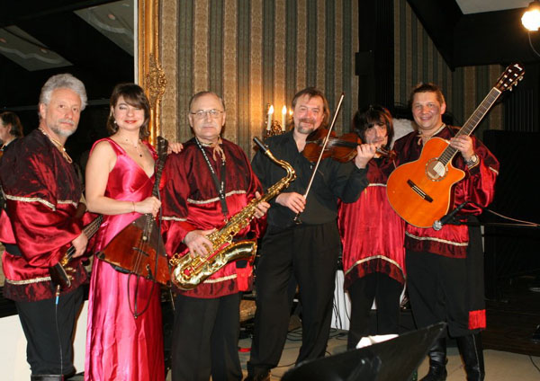 Russian live music band, Ruskoka Ball, March 2011, Toronto, Canada