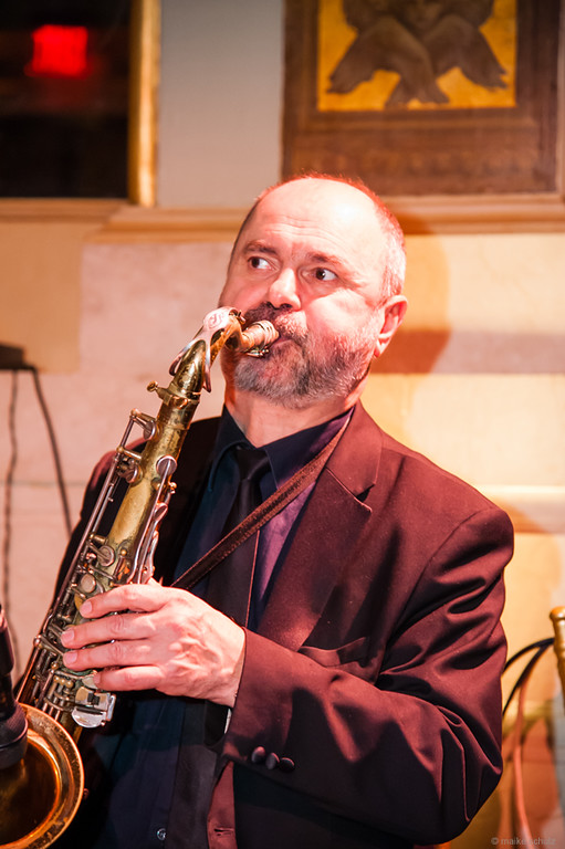 Saxophone player Sergey Gurbeloshvili, Photo credit :: Maike Schultz, Annual Petroushka Ball 2014, The Plaza, New York City