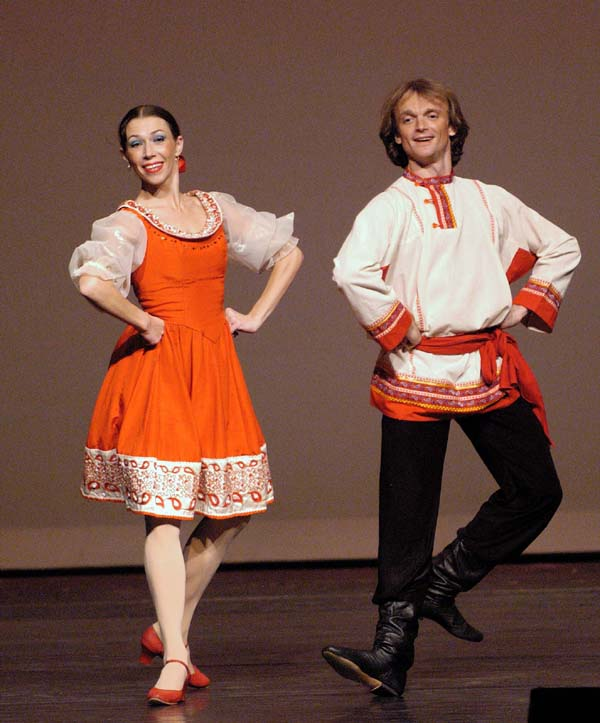 Old Russian Woman Dancing