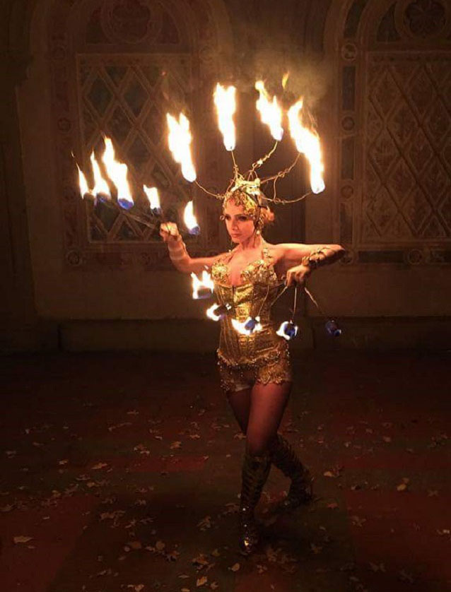 Fire dancer NYC