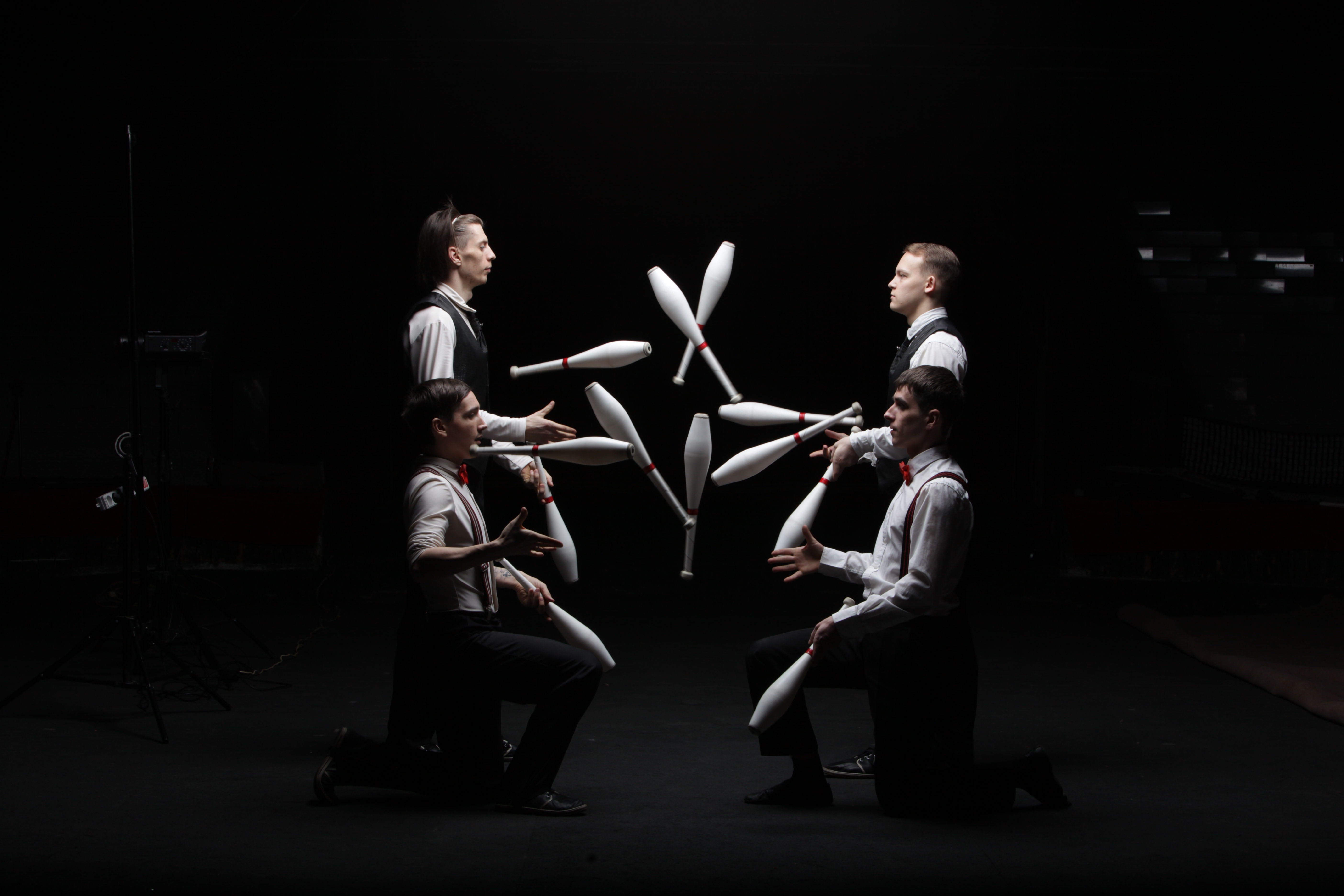 Circus Act of Group Jugglers
