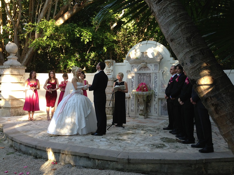 Russian wedding at the Bonnet House Museum and Gardens, Fort Lauderdale, Florida