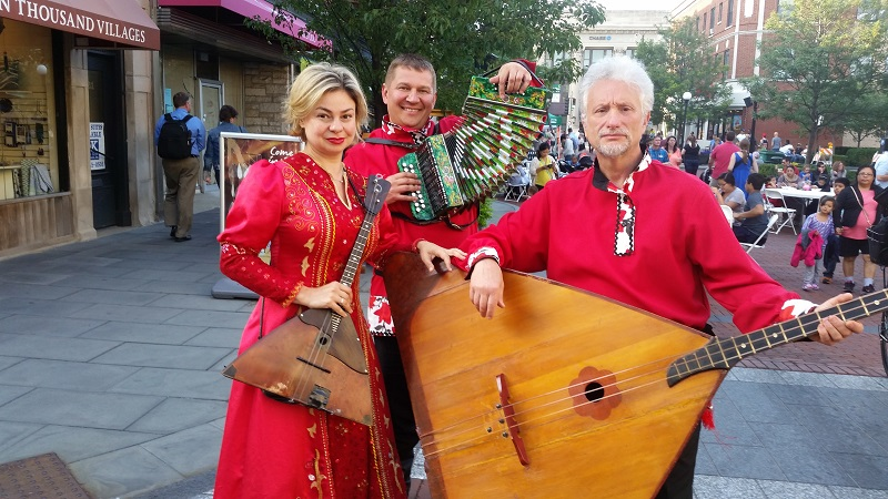 Barynya Russian Balalaika Trio, Downtown Oak Park, Oak Park, Chicago, Illinois