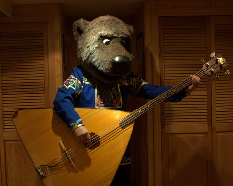 Leonid Bruk as Russian Bear who plays balalaika-bass