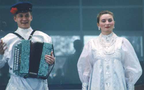 Russian folk song duo