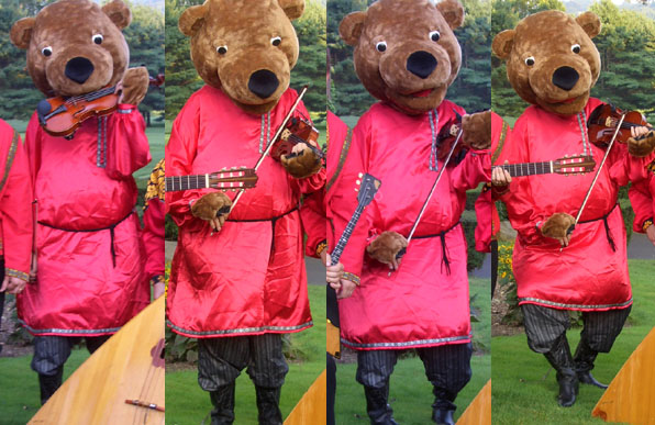 Russian Bear violin virtuoso