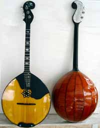 Russian folk music instruments. DOMRA