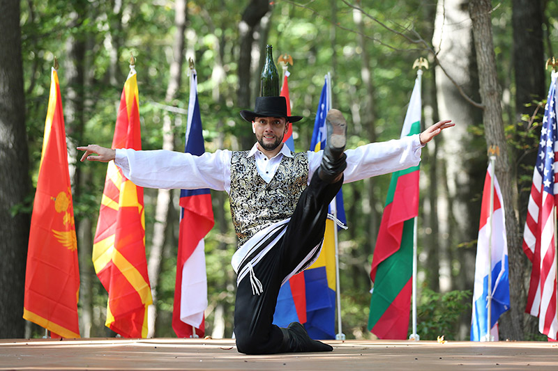 Jewish Bottle Dance, dancer Serhiy Tsyganok, Maryland, Slavic Heritage Festival, St Mary's Assumption Eastern Rite Church, Joppa, MD, U.S. Army photo by Sgt. Kalie Jones