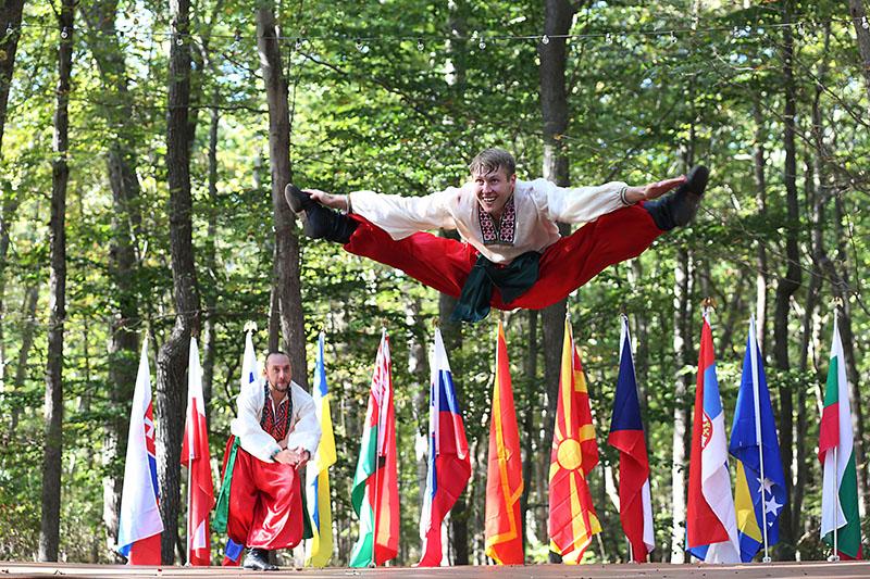 Ukrainian National Dance Hopak, dancer Vladimir Nikitin, Maryland, Slavic Heritage Festival, St Mary's Assumption Eastern Rite Church, Joppa, MD, U.S. Army photo by Sgt. Kalie Jones