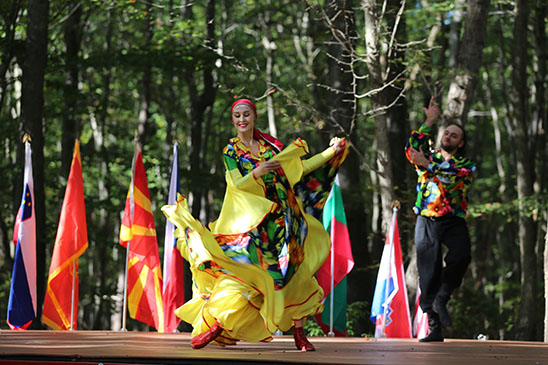 Russian Gypsy Dance, Dinara Subaeva, Serhiy Tsyganok, Maryland, Slavic Heritage Festival, St Mary's Assumption Eastern Rite Church, Joppa, MD, U.S. Army photo by Sgt. Kalie Jones
