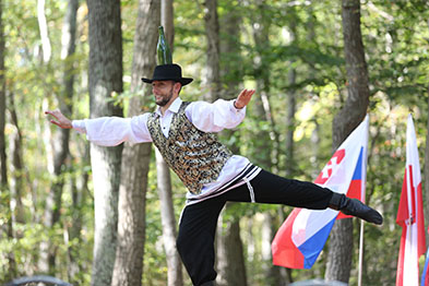 Jewish Bottle Dance, Bottle dancer Serhiy Tsyganok, Maryland, Slavic Heritage Festival, St Mary's Assumption Eastern Rite Church, Joppa, MD, U.S. Army photo by Sgt. Kalie Jones