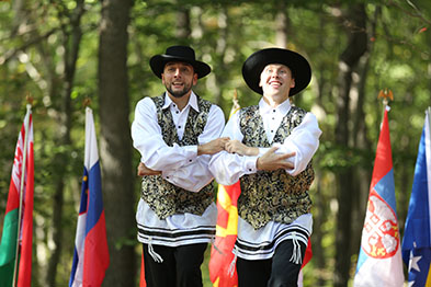 Jewish Bottle Dance, Vladimir Nikitin, Serhiy Tsyganok, Maryland, Slavic Heritage Festival, St Mary's Assumption Eastern Rite Church, Joppa, MD, U.S. Army photo by Sgt. Kalie Jones