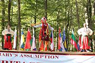 Ukrainian National Dance Hopak, Dinara Subaeva, Vladimir Nikitin, Serhiy Tsyganok, Maryland, Slavic Heritage Festival, St Mary's Assumption Eastern Rite Church, Joppa, MD, U.S. Army photo by Sgt. Kalie Jones