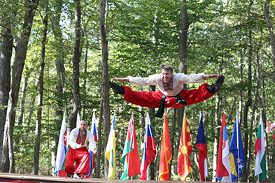 Ukrainian National Dance Hopak, dancer Vladimir Nikitin, Maryland, Slavic Heritage Festival, St Mary's Assumption Eastern Rite Church, Joppa, MD, U.S. Army photo by Sgt. Kalie Jones