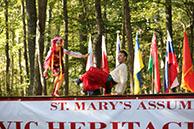 Ukrainian National Dance Hopak, Dinara Subaeva, Vladimir Nikitin, Maryland, Slavic Heritage Festival, St Mary's Assumption Eastern Rite Church, Joppa, MD, U.S. Army photo by Sgt. Kalie Jones