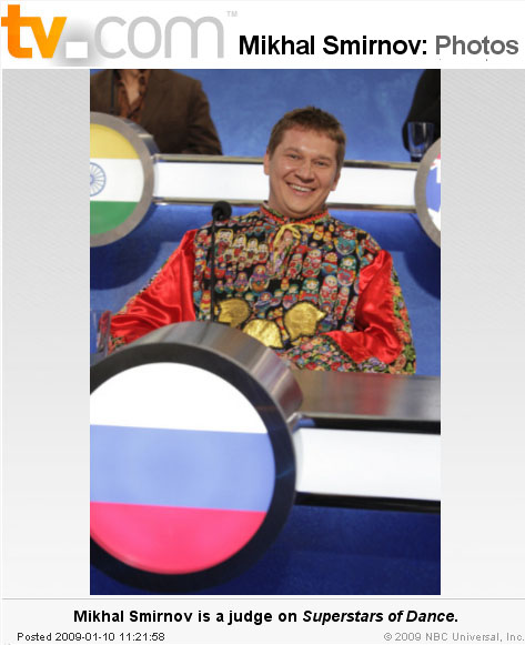 Mikhail Smirnov, photo from TV.com website