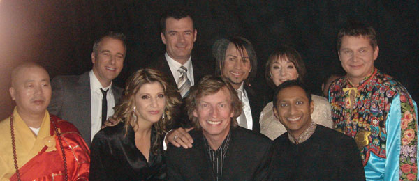 Mikhail Smirnov with producer and judges of the show Superstars of Dance, NBC, 2009