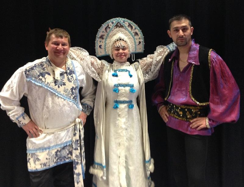 Multicultural school assembly, Jefferson Elementary School, Princeton, IL , Elina Karokhina, Mikhail Smirnov, dancer Alisher