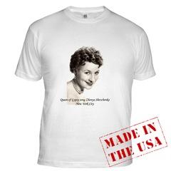 $18 dollars white t-shirt with the photo of Shenya Shevchenko