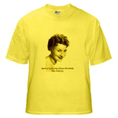 $17 dollars yellow T-shirt with the photo of Gypsy singer Shenya Shevchenko