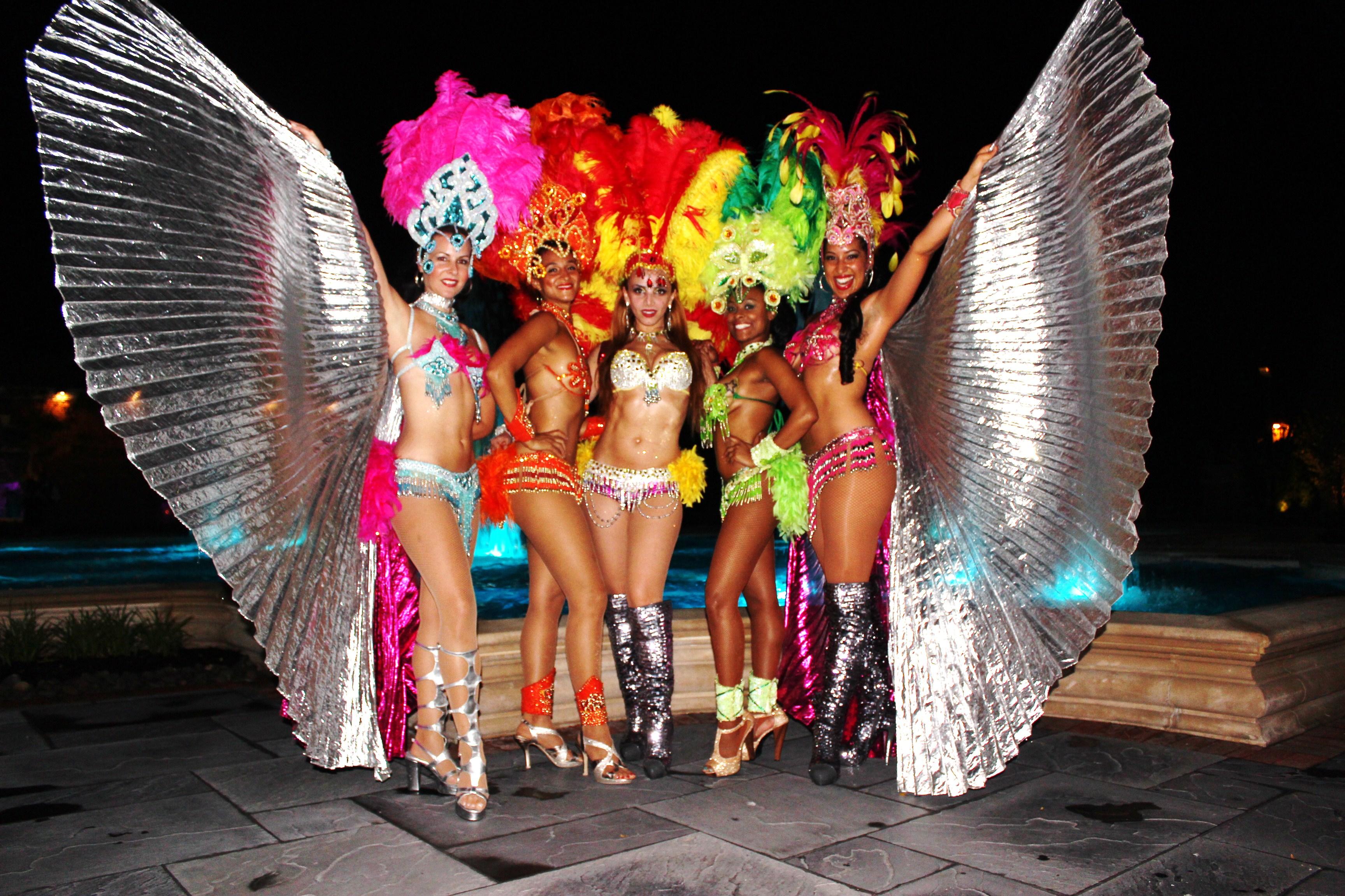 Brazilian dancers wedding entertainment bands
