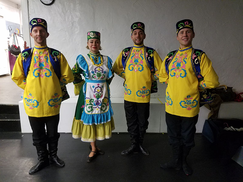Tatar dancers, Brooklyn, New York, Brooklyn Music School, Elina, Sergey, Konstantin and Vladimir