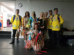 Tatar dancers, Thunderbird American Indian Dance Company, Brooklyn, New York, Brooklyn Music School, Elina, Sergey, Konstantin and Vladimir, belly dancer Yuliya Shtark
