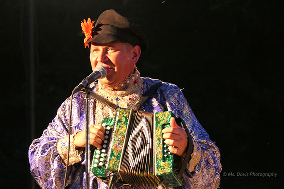 Barynya Song, Music & Dance Ensemble, Mikhail Smirnov plays garmoshka, Photo by Donna Davis, Ms. Davis Photography