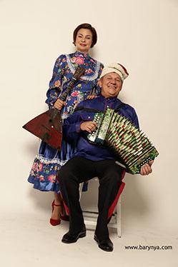 New Jersey Balalaika Duo, Mikhail Smirnov, Elina Karokhina, photo cblueit Yuriy Balan