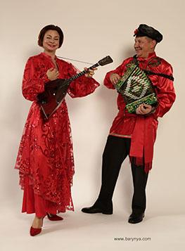 New Jersey Balalaika Duo, Mikhail Smirnov, Elina Karokhina, photo credit Yuriy Balan