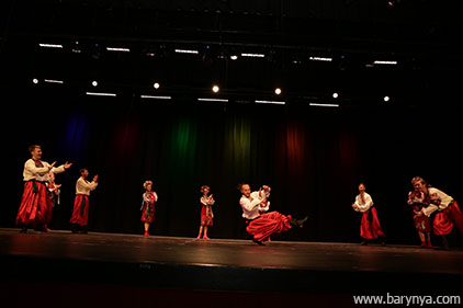 Hopak, National Dance Of Ukraine, Saturday, October 13, 2018, Freeport High School, Freeport Community Concert Association, FCCA, Freeport, Long Island, New York, Ensemble Barynya, photo credit Yuriy Balan, Valentina Kvasova, Alexander Rudoy, Simona Zhukovski, Serhiy Tsyganok, Irina Biryukova, Konstantin Tulinov, Olga Yeliseyeva, Olga Chpitalnaia, Ilia Pankratov, Vladimir Nikitin