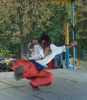 Ukrainian cossack martial arts dance troupe zvychay