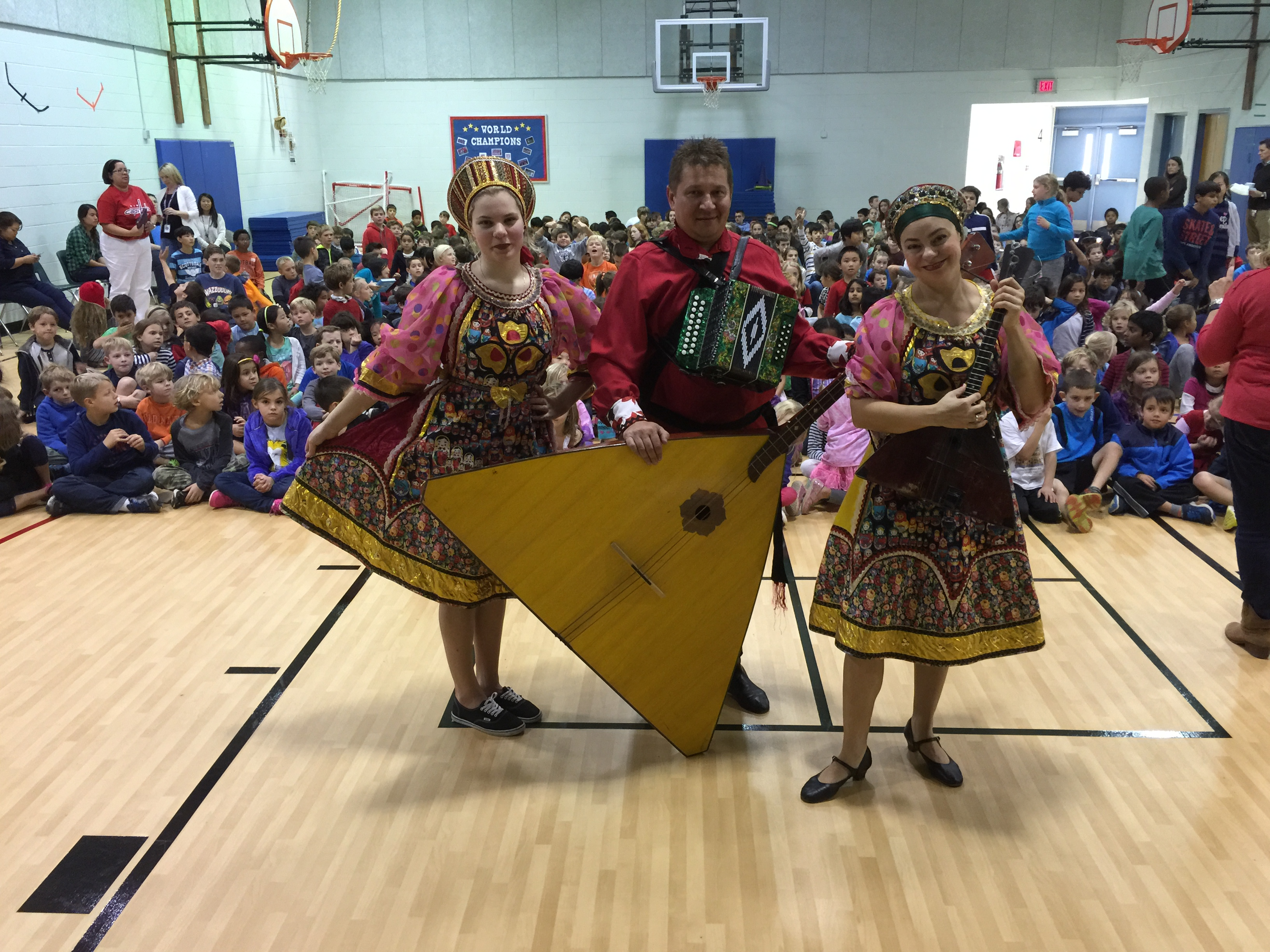McLean, VA. Russian dance, song and music trio, school assembly in ...