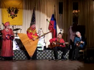 "Russian folk tune ""The moon is shining brihgtly"" performed by ensemble ""Barynya"" from New York"