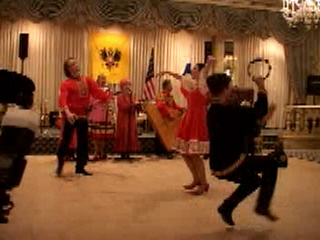 "Russian folk song and dance ""Tanok"" performed by folk dance and music ensemble ""Barynya"" from New York"