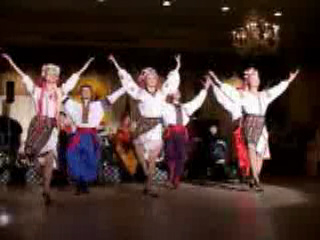 Hopak Ukrainian traditional dance performed by folk dance and music ensemble Barynya from New York
