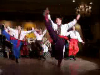 """Hopak"" Ukrainian traditional dance performed by folk dance and music ensemble ""Barynya"" from New York"