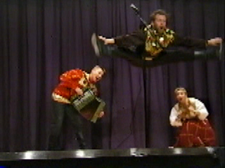 Russian folk music and dance trio Barynya